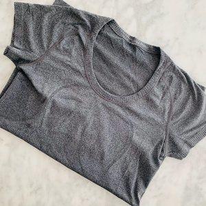 Lululemon Swiftly Short Sleeve Top Grey 8 Scoop